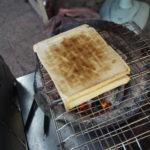 台南の朝ごはん「阿嬤碳烤三明治」。おばあちゃんの炭焼きサンドイッチ